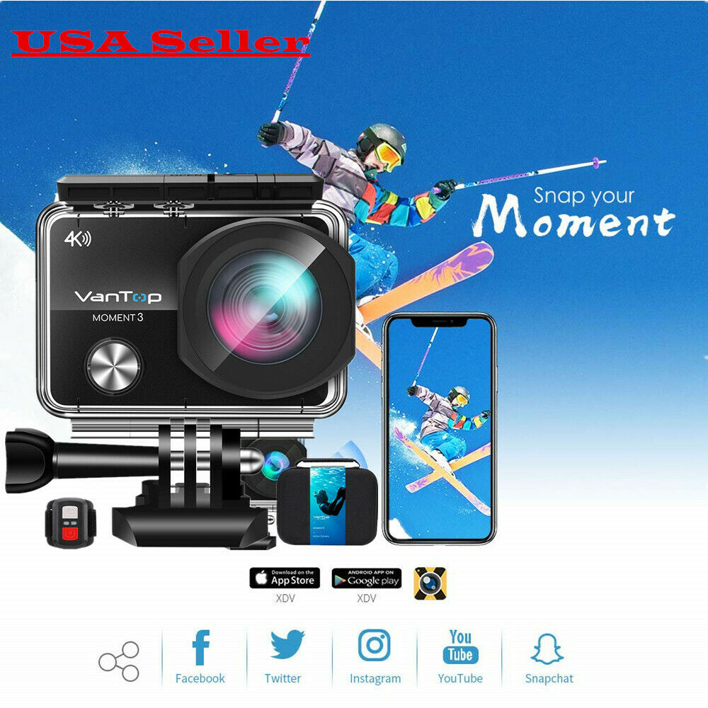 VanTop 4K WiFi Action Camera 32GB TF Card, 16MP Sony Sensor Gopro Remote Control Featured
