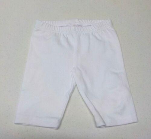 Girl/'s Size 6 Months Jumping Beans White Capri Leggings New Nwt #10030