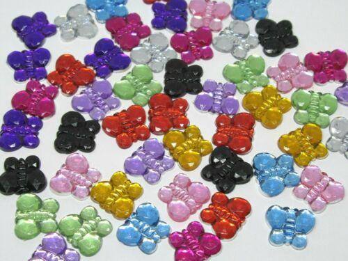 Diamantes de imitación de acrílico 50 Mariposa Mezcla Adornos 10mm Tarjeta Scrapbooking Manualidades