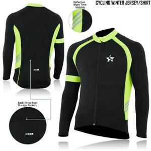 Cycling Jersey Long Sleeves Windstopper Thermal Cold Wear Bicycle Top