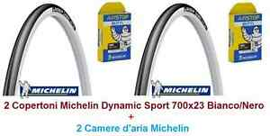 2-Copertoni-2-Camera-Michelin-Dynamic-Sport-700x23C-Bianco-x-Bici-28-034-Trekking
