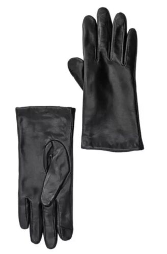 Womens Nordstrom Rack 3122 Leather 2 Finger Touch Gloves size Small New!