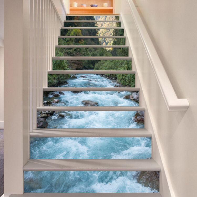 3D bianca River 876 Stair Risers Decoration Photo Mural Vinyl Decal Wallpaper CA