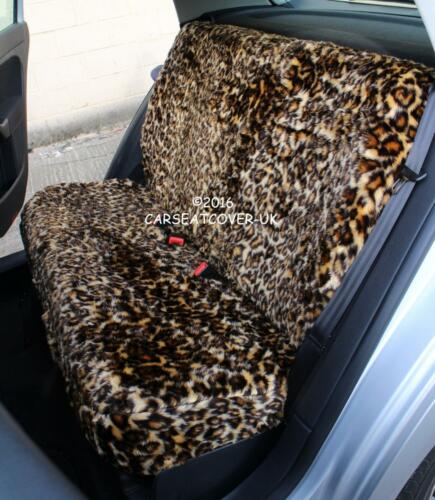Full Set LEOPARD Faux Fur Furry Seat Covers Renault Megane Coupe Cabriolet