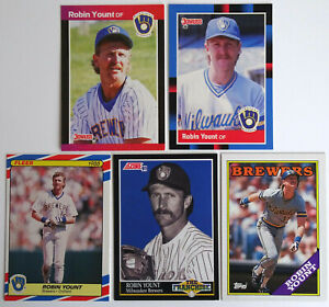 1987-91-Baseball-Cards-Robin-Yount-Brewers-Donruss-Fleer-Score-Topps-Lot-of-5