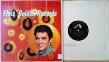 ELVIS PRESLEY - ELVIS' GOLDEN RECORDS - RCA LP 1707 -BLUE LETTERS, LONG PLAY BTM