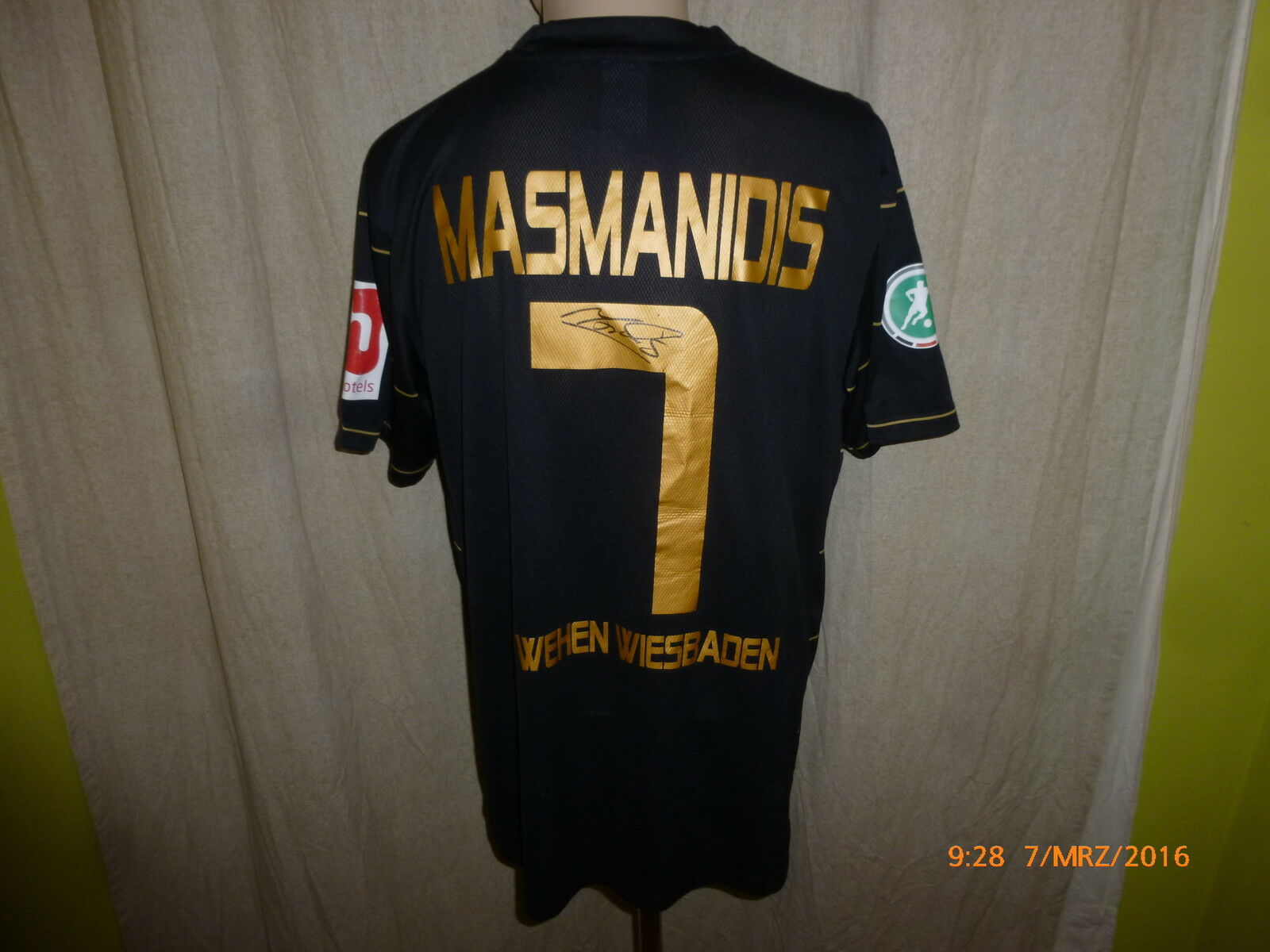 SV SV SV Wehen Wiesbaden Nike Auswärts Matchworn Trikot 2010 11 + Nr.7 Masmanidis Gr.M c02617