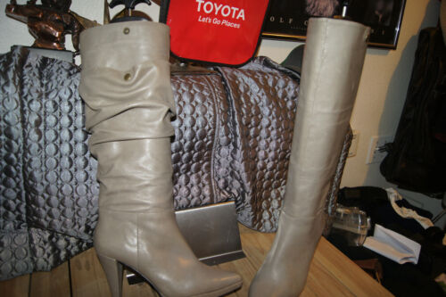 GRAY LEATHER Boots from Nordstrom 7.5 SEAN LING BO