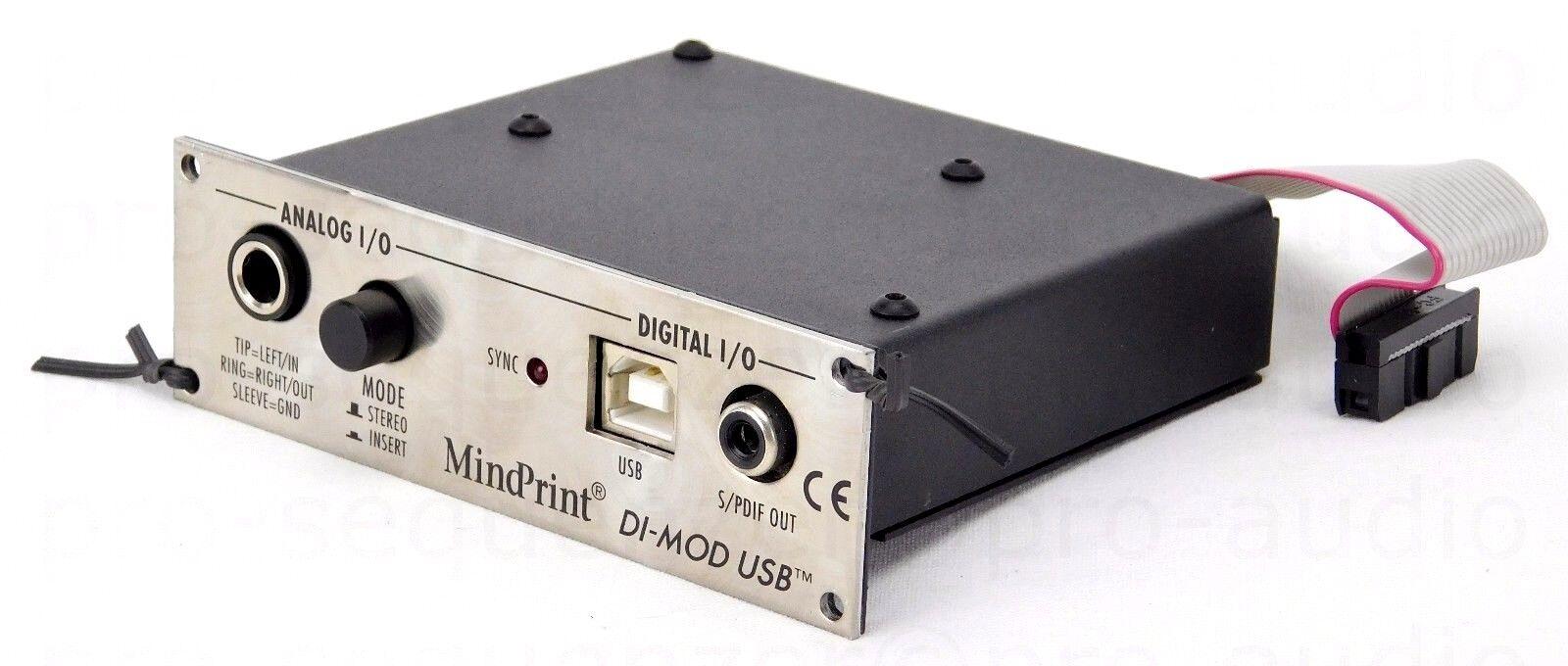MindPrint DI-MOD USB Stereo ConGrüner 24 bit  96 kHz  110dB(a) + 1.5J Garantie