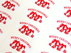 Merry Christmas Labels.Details About Merry Christmas Labels Stickers For Cards Festive Craft Envelope Seals