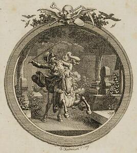 Chodowiecki (1726-1801). Wilhelm fai saltare sul Kirchhof; pressione grafico 1