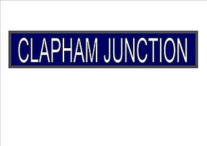 Clapham junction reproduction london underground station sign image is loading clapham junction reproduction london underground station sign london reheart Choice Image