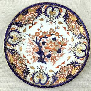1930-Antik-Bloor-Derby-Imari-Porzellan-Platte-Handbemalt-Alt-Koenige-Muster