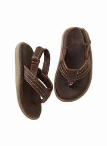 d601a3cd4 GAP Baby   Toddler Boys Size 5T   6T Brown Ankle-Strap Flip Flops ...