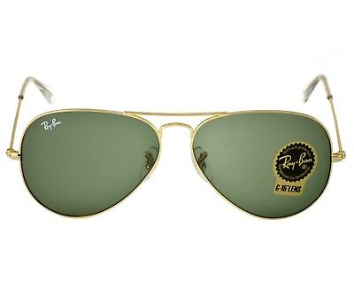 96a848e6a40f4 Ray-Ban RB3025 Aviator Classic L0205 Gold Frame Green Classic G-15 Lenses