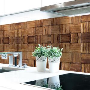 Details zu Küchenrückwand Holz Panele Premium Hart-PVC 0,4 mm selbstklebend