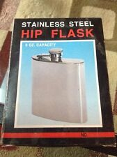 New 6oz Stainless Steel Liquor Wine Hip Flask Screw Cap US FAST FREE SHIPPING