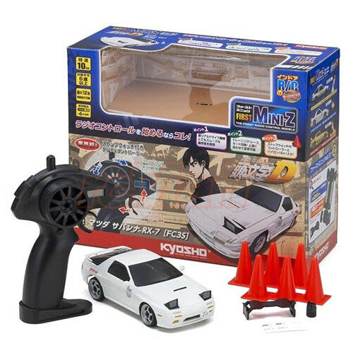 Kyosho 1/28 First Mini-Z Initial-D Mazda SAVANNA RX-7 FC3S w/ 2.4GHz RTR  66602