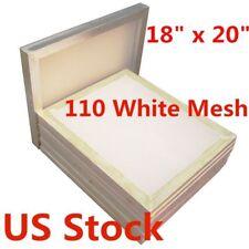 Usa 6pcs 18 X 20 Silk Screen Printing Screen 110 Mesh Aluminum Frame
