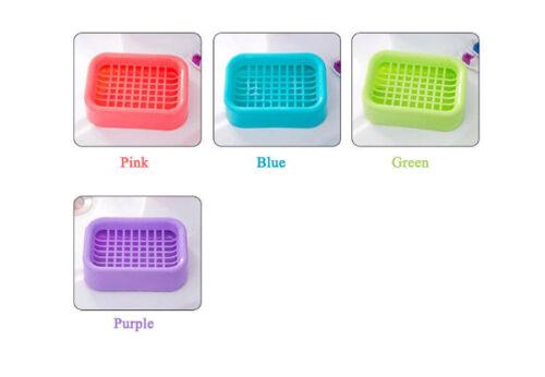 Bathroom Water Draining Soap Dish Case Holder Drainer Soap Saver Storage Box New