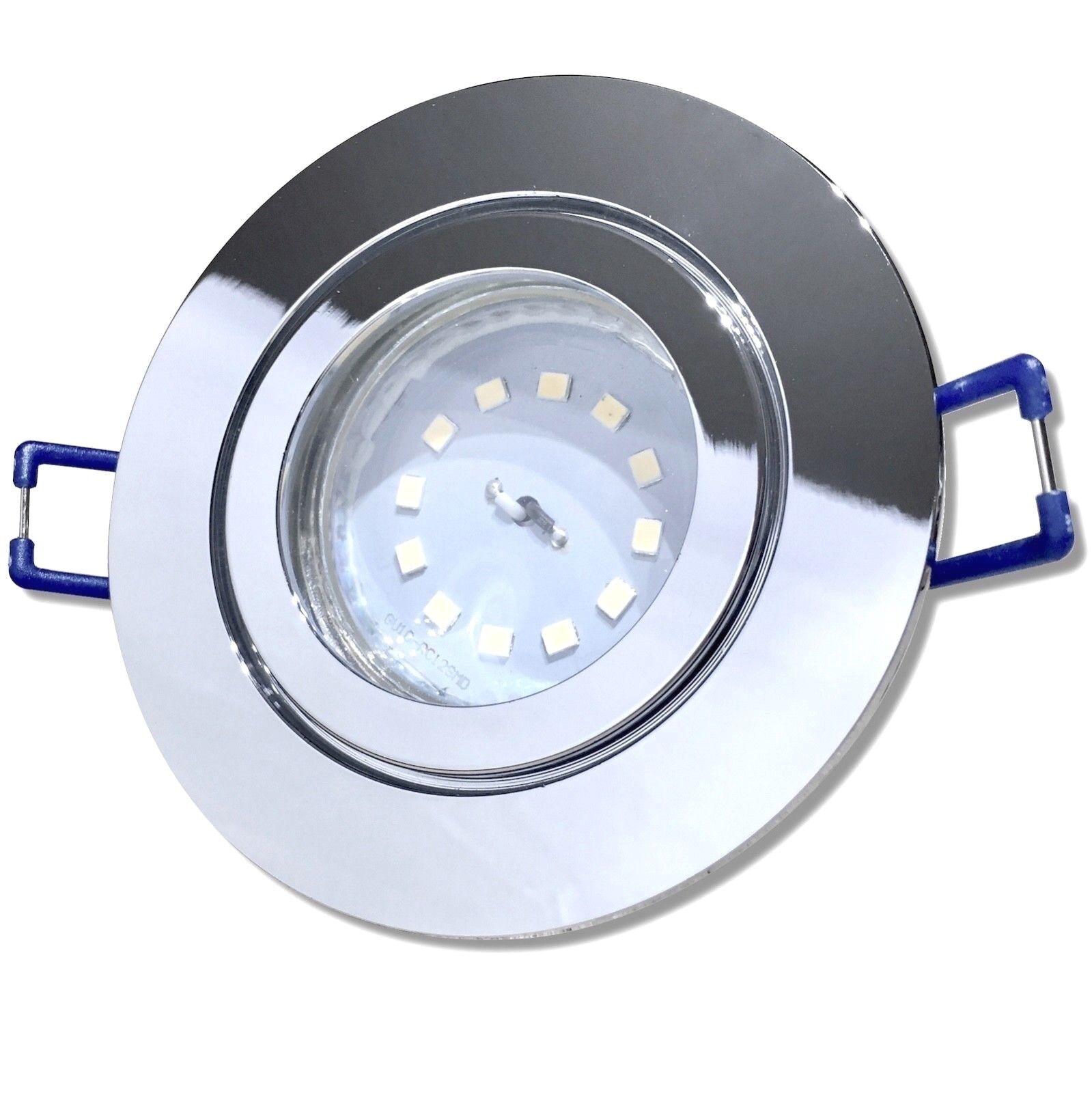 12Volt Set 3W Power LED Spot Nautik44 Feuchtraum IP44 SMD Nassraum Lampe + Trafo