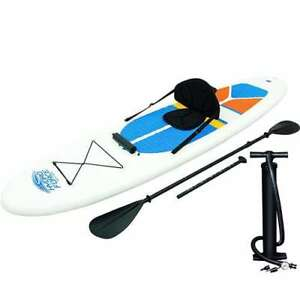 Details about Bestway Hydro-Force White Cap Inflatable SUP Stand Up Paddle  Board (Open Box)