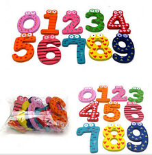 Cartoon Cute 0-9 Wooden Number Fridge Magnet Kid Child Math Xmas Gift Toy BUCA#1