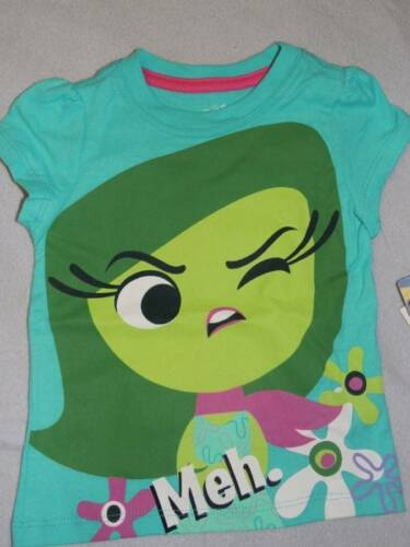 DISNEY INSIDE OUT DISGUST SHIRT SIZE 2T 3T 4T 4 5 6 6X NEW!