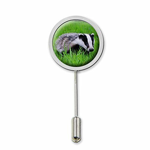Badger Stick Pin Tie Pin Badge With Protector Ideal Birthday Gift C58