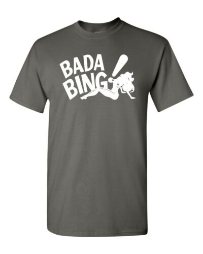 BADA BING Sopranos Jersey Mafia Stripper Tony Men/'s Tee Shirt 1819