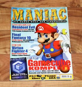 2002 Maniac Magazine Resident Evil Luigi Manoir Super Smash Bros Melee Wave Race-afficher Le Titre D'origine Soulager La Chaleur Et Le Soleil