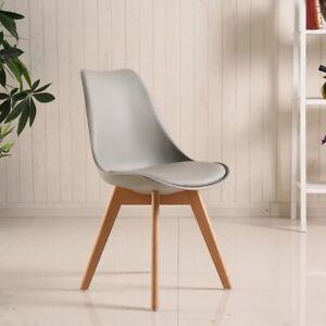 4-sillas-suaves-silla-de-comedor-Silla-oficina-pies-de-madera-Gris
