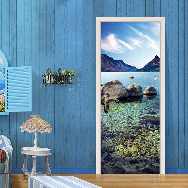 3D Fluss 44 Tür Mauer Wandgemälde Foto Wandaufkleber AJ WALL DE Lemon