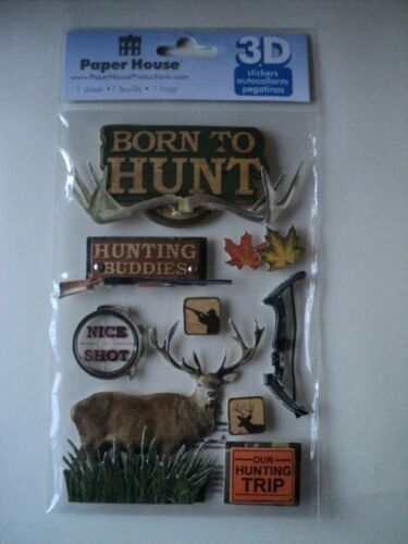 PAPER HOUSE BORN TO HUNT 3D STICKERS BNIP *NEW*