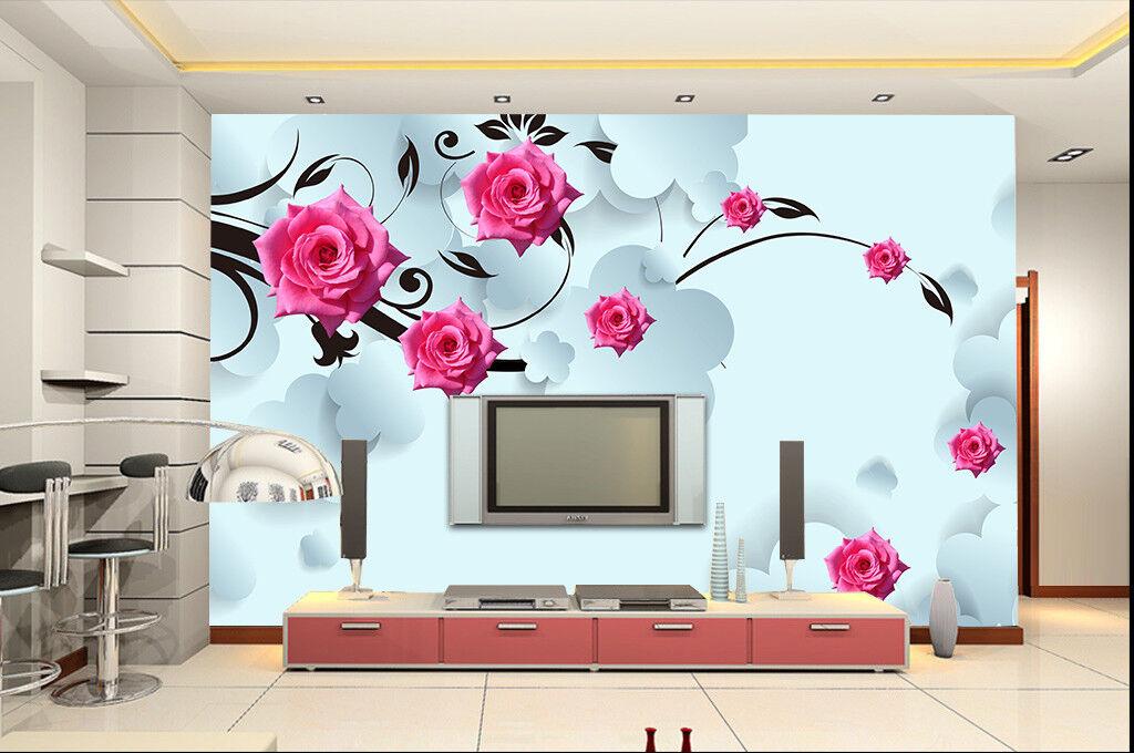 3D Modernes Muster Blume 9783 Tapete Wandgemälde Tapeten Bild Familie DE Jenny