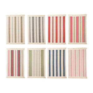 Ikea Signe Flatwoven Area Kitchen Rug Striped Entry Washable 100