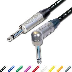 Neutrik-amp-Van-Damme-Guitar-Lead-1-4-034-Mono-Jack-to-Jack-Cable-3m-6m-5m-10m