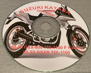 1985-1996-Suzuki-Katana-GSXR-750-1100-GSX-600-750-1100-F-Service-Manual-on-CD