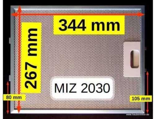 Top 34 27 Miz 2030 cappa aspirante 10-veli Metallo-Filtro grassi 343//344 x 267