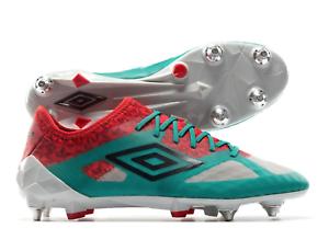 Umbro Para hombre 10 Velocita III Pro SG botas De Fútbol Azul Cochebono rojo ardiente verde