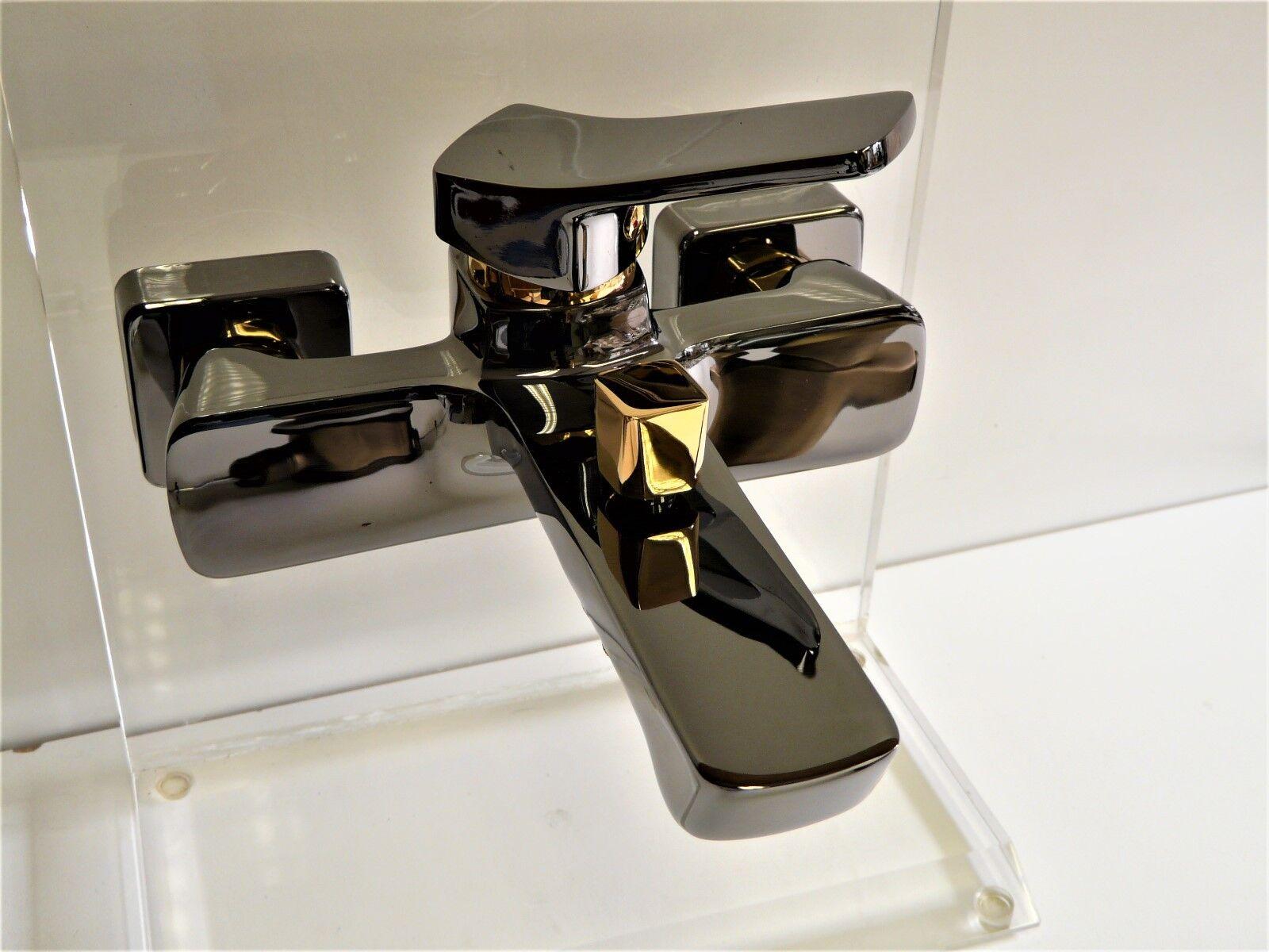 Wannenarmatur Aranja/Gold (24 Karat), Wannenbatterie, Einhebelmischer, Stilo