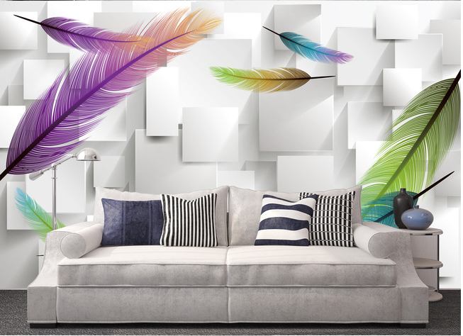 3D Farbeed Feathers 85 Wall Paper Murals Wall Print Wall Wallpaper Mural AU Kyra