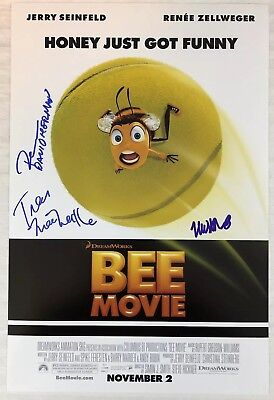 Movies Rational The Bee Movie 12x18 Photo Movie Poster Signed Matthew Broderick Tress Macneille The Latest Fashion