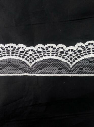 """Wholesale 2 white poly lace trim 1 3//4/"""" L4-1 50 yard black 10"""