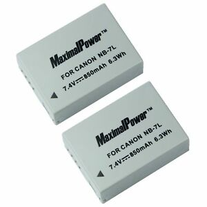 BATTERY-x-2-for-CANON-NB-7L-PowerShot-G-Series-G10-G11-G12-Camera-TWO-BATTERIES