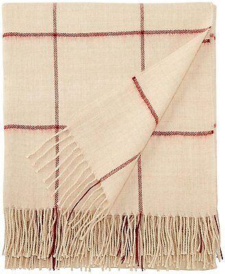 Alicia Adams 100/% Baby Alpaga Throw Blanket Indigo et BLANC $450 NEUF RET