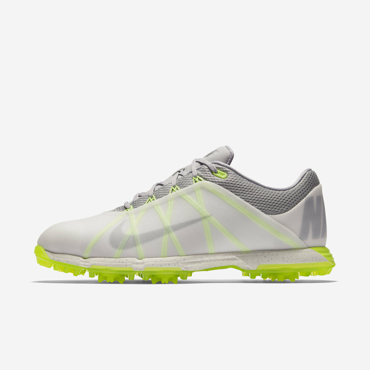 Nike Lunar Fire Men's Golf Shoes - Clear Gray Green 853738-900