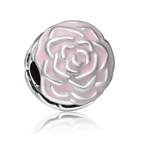 Silver Charms Bead Cute Pink Fashion Jewelry Fit 925 Sterling European Bracelets