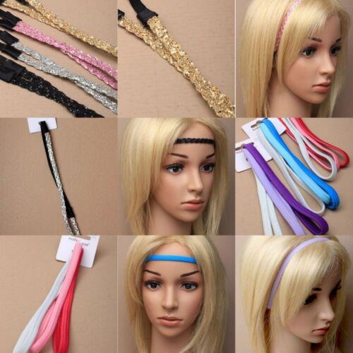 Stirnband Hippie Haarband Elastisch Zopfband Haarschmuck ver.Farben