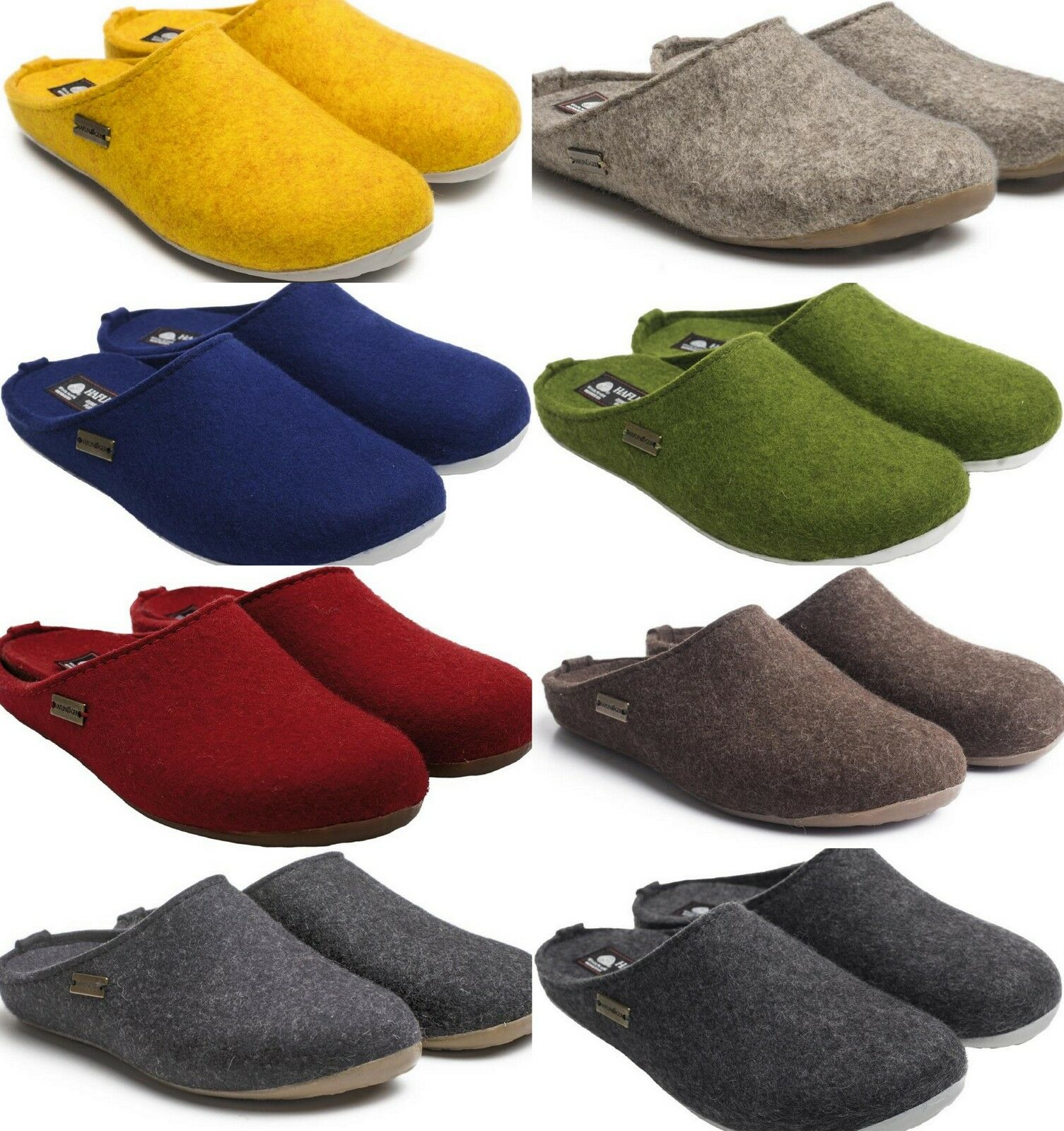 Haflinger Fundus Slippers Woman Man Unisex High Quality Grey bluee Red Green